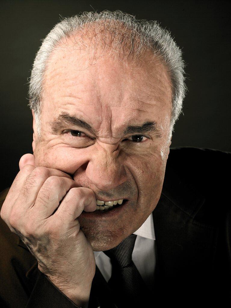 Portrait wütender Mann