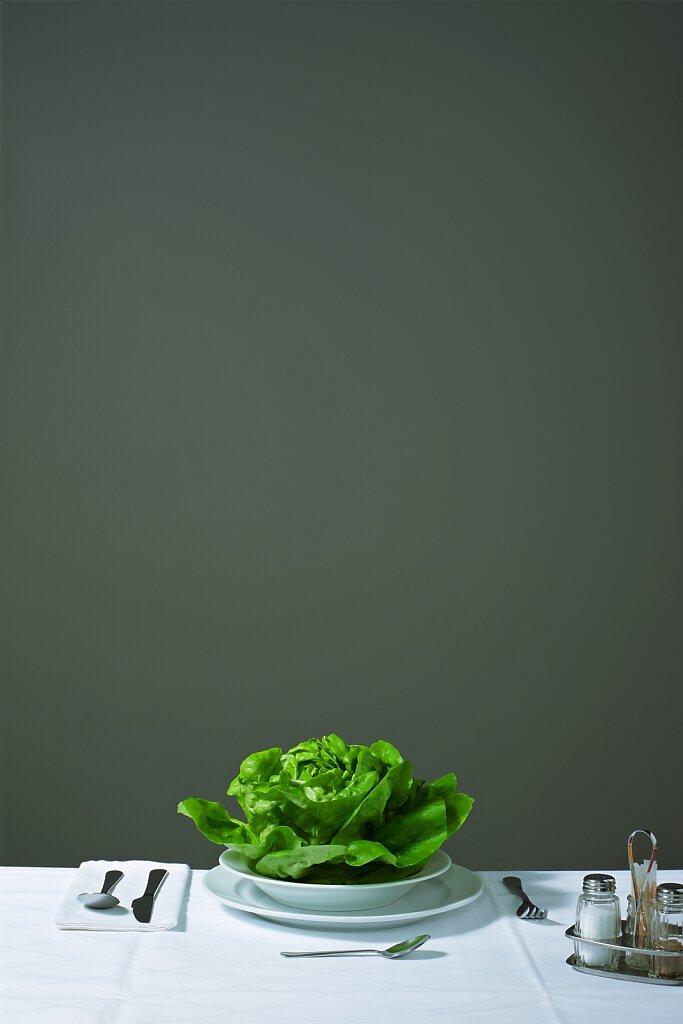 Gedeck mit Salat
