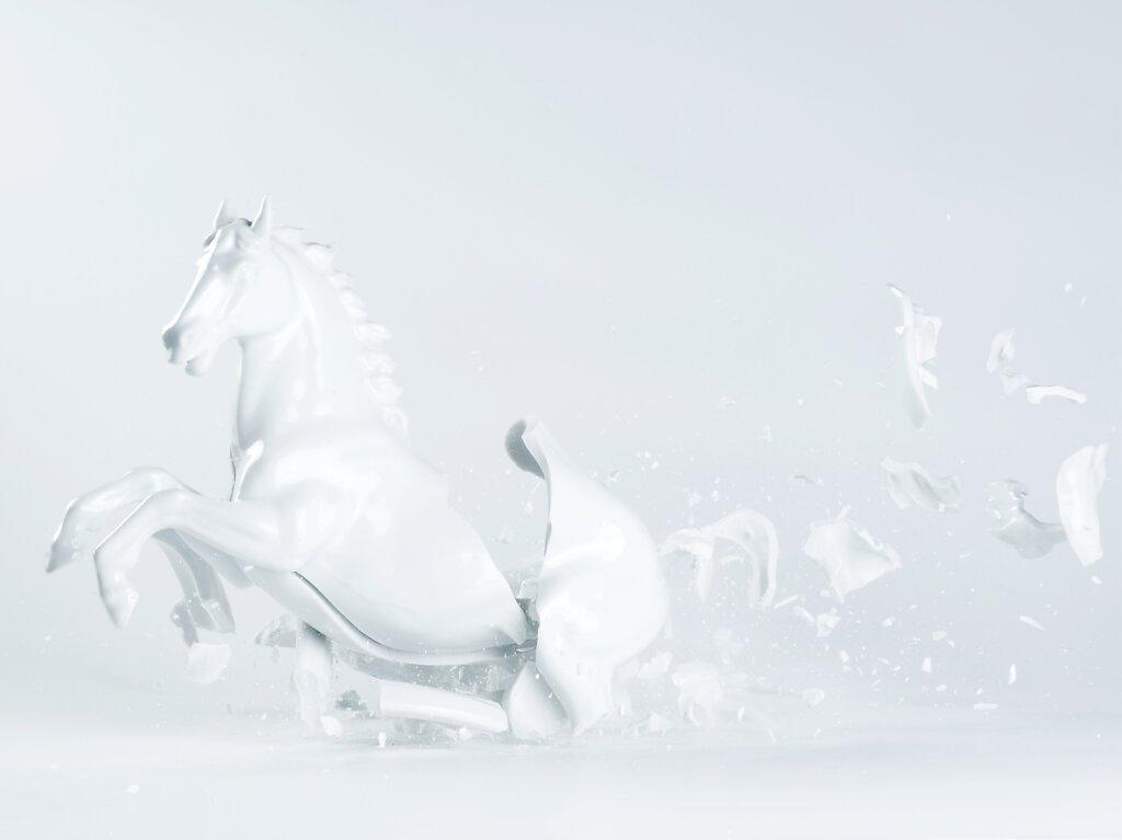Zerspringendes Pferd
